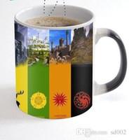 banderas de señales al por mayor-Bardian Ceramics Cup juego de tronos señal de la bandera discolored tazas para la decoración del hogar tazas redondas juicio orden 13yo dd