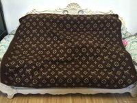 outdoor-familiendecke großhandel-Luxus Klassische Wolldecke Home Outdoor Schal Schal Warme Alltagsdecken Große 170 * 140 cm Mode Weihnachten Familie geschenk