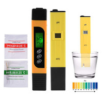 Wholesale ec pen resale online - 3in1 TDS EC Temp Meter and PH Meter with ATC Digital Accuracy Water Quality Monitor Pen Style Portable Tester AD091