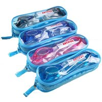 jungen gläser blau großhandel-Schwimmbrillen Jungen Mädchen Kinder Schwimmbecken für Kinder Brille schwarz blau Himmel blau rosa Schwimmbrille UV-Beschlag wasserdicht