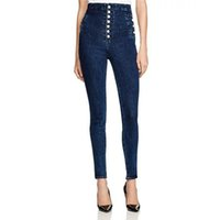 новые джинсы для девочек оптовых-Fashion Slim Woman Jeans High Waist Skinny Pencil Pants Woman Girl Jeans New 2018 Clothing