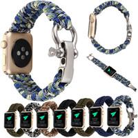 новые канатные часы оптовых-Новая замена веревка ссылка браслет Браслет ремешок для Apple Watch iWatch 38 мм 42 мм высокое качество