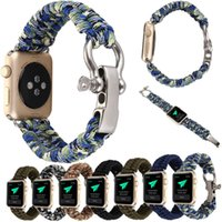 halat bilezik saatleri toptan satış-YENI Yedek Halat Bağlantı Bilek Bilezik Band Kayışı Apple Ürünü Için iWatch 38mm 42mm Yüksek Kalite