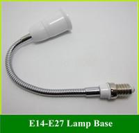 Wholesale e14 e27 adapter for sale - Group buy E14 to E27 Socket LED Halogen Light Base Converter Extend Adapter Long CM