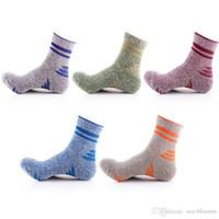 Wholesale grey wool socks - Free DHL 20 Pair Lot Outdoor Camping Climbing Sport Socks Cotton Hiking Socks Men Running Football Athletic Socks G511S