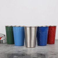 Wholesale colored glass wine bottles resale online - Stainless Steel Beer Cups ML Tumbler Single Layer Juice Beer Glass Portion Cups Kids Cup Wine Glasses Hydration Gear OOA5247