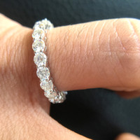 7c552240c77f anillos de compromiso moissanite de oro blanco al por mayor-Sólido 14K 585 Oro  Blanco