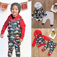 Wholesale cars hooded online - Baby Christmas car print outfits children boys Xmas Halloween pumpkin Hooded top pants set Autumn fashion kids Clothing Sets C4986