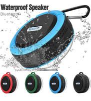 battery bluetooth speaker achat en gros de-Haut-parleur de douche Bluetooth haut-parleur étanche C6 avec conducteur fort, longue durée de vie de la batterie, micro et ventouse amovible