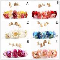 Wholesale baby feather headdress for sale - Group buy Mix Styles Ins Baby Girls Feather fabric flower headbands Infant Toddler Photography Props Hair Sticks headdress Kids Hair Accessories