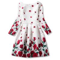 16d255a191f58 Automne Ados Fille Robes Pour Enfant Fleur À Manches Longues Robes  Habillées Fille Adolescente Robe De Soirée Robe Infantil 10 11 12 Ans  Y1891409