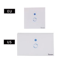 Wholesale remote for wall switches - Sonoff Touch US EU Plug Wall Wifi Light Switch Glass Panel Touch LED Lights Switch for Smart Home Wireless Remote Switch Control 2608013