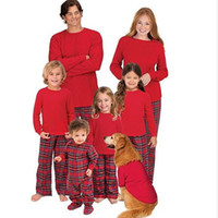 Wholesale mother daughter clothes online - Christmas Mother and Daughter Clothes Family Matching Cotton Pajamas Dress Boys girls Sets women dress ladies men Home clothes QZZW104