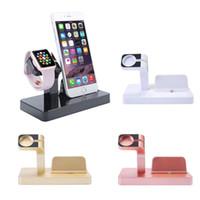 carregador para iphone dock para carregador venda por atacado-Eimo 2 em 1 doca de carregamento stand holder para apple iphone 7 7 plus 6 s 6 plus 6 s 6 s 5 s carregador carregador doca de ouro