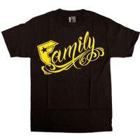 семейные ремни оптовых-Известные звезды и ремни семьи футболка черный желтый