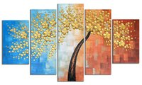 Wholesale texture abstract panel paintings online - Handmade Texture Panels Modern Blue and White Flower Blossom Trees Abstract Wall Art Landscape Paintings on Canvas for Bedroom Kitchen