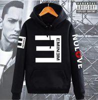 sudaderas con capucha eminem al por mayor-Sudaderas con capucha de lana de los hombres Eminem Impreso Espesar Sudadera Hombres Ropa deportiva Ropa de moda Otoño Invierno Sudaderas con capucha