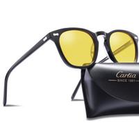 gece görüş gözlükleri polarize güneş gözlüğü toptan satış-Gece görüş Gözlüğü 5355 Güneş Gözlüğü Carfia Polarize Güneş Gözlüğü Kadın Erkek Vintage Klasik Tasarım Koruyucu Taşıma çantası