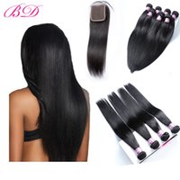 Wholesale full human hair sales for sale - Hot Sale Malaysian Indian Brazilian Peruvian Silky Human Hair Weave Double Wefts Dyeable Full Cuticle Bundles With Lace Closure
