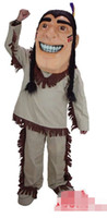 Wholesale adult indian costumes - Custom Newly Indians mascot costume Adult Size free shipping