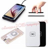 cargador qi transmisor inalámbrico al por mayor-30pcs Qi Cargador inalámbrico estándar cargador cargador Pad para Samsung Galaxy S3 S4 S5 S6 S7 Nota 2 3 4 para iPhone 5 6 6 más 7 más