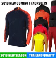 Wholesale Outfit Sale - 2018 MEN Training KITS outfits Tracksuits jersey INIESTA O.DEMBELE PIQUE SOCCER FOOTBALL calcio fútbol HOT SALE messi shirts NEW SALE