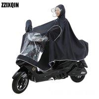 motocicleta de una pieza al por mayor-Impermeable de una sola pieza con doble botonadura desmontable Motocicleta con poncho de una sola motocicleta Impermeable eléctrico aumentado