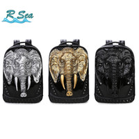 Wholesale cool men shoulder backpacks for sale - Group buy Storage Bags Studded Backpack Silicone Elephant Shoulder Bags Cool Personality Street Men s Computer Backpack high quality