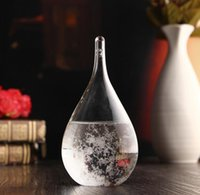 21.5 * 9.5cm Previsão do tempo Water Drop Storm Glass Forecast Predictor Garrafa Barómetro Desktop Crafts Home Office Decor Art KKA3630
