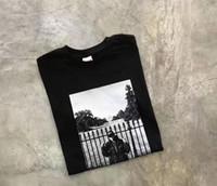 домашние хлопчатобумажные футболки оптовых-Новый тайный враг общественности Белый дом футболки хип-хоп скейтборд o шеи лето классический хлопок футболки