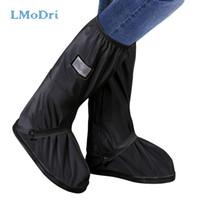 shoe cover boots al por mayor-LMoDri motocicleta lluvia zapatos cubiertas impermeable bicicleta más grueso Scooter botas antideslizantes bota a prueba de lluvia cubierta del zapato de arranque reutilizable