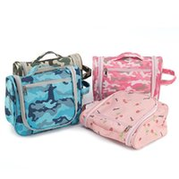 Wholesale Eco Friendly Cosmetic Bag Wholesale - Camouflage Makeup bag Waterproof Travel Cosmetic Bag Hanging Washbag Unisex Toiletry Organizer Travel Storage Bags 3 Colors YW493-2