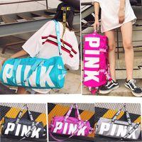Wholesale fedex art - Pink Style Boy&Girl Handbags Travel Beach Bag Duffle Shoulder Bags Large Capacity Waterproof Fitness Yoga Bags SF-Express DHL FEDEX UPS Ship