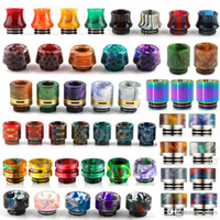 Wholesale drip tip rainbow for sale - Group buy 13 Types Thread Resin Drip Tip Honeycomb Snake Skin Cobra Vape Rainbow Mouthpiece for TFV12 Prince TFV8 Big Baby Tanks RDA