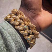 homens prata pulseira cubano link venda por atacado-7