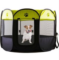 Wholesale pet playpens for sale - 2018 Portable Folding Pet Tent Dog House Cage Dog Cat Tent Playpen Puppy Kennel Easy Operation Octagonal Fence Outdoor Supplies Top Quality