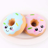 Wholesale Funny Stress - Squishies toy 11cm Lovely Doughnut Cream Scented Squishy Slow Rising Squeeze anti stress soft toys funny gadgets kawaii squishies oyuncak