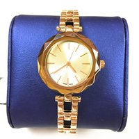 Wholesale women watch bracelet elegant - hot item fashion watch for woman famous brand cutting mirror dial Steel Bracelet rose gold color female clock luxury Gift for gilrs Elegant