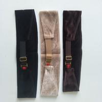 New arrival elastic strip velvet wig grip band hand made headband for holding your wig hat or scarf velvet matrial