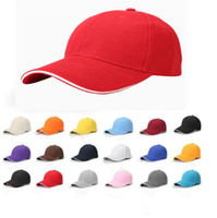 Wholesale sun hat online - 18 Colors Unisex Plain Baseball Cap Ball Solid Blank Visor Adjustable Hats Solid Sports Visor Sun Golf Ball Hat CCA9186