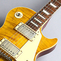 Wholesale shop for guitars for sale - Group buy China guitars Custom Shop Yellow wave pattern Mahogany body Rosewood Fingerboard string Electric Guitar
