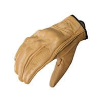 кожаные перчатки коричневые оптовых- New Brown leather motorcycle gloves XXL Breathable motorbike gloves summer mountain bike riding guanti moto