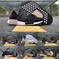 yüksek sokak ayakkabıları toptan satış-Racer NMD Primeknit PK İnsan Yarış Pharrell Williams Koşu Ayakkabıları Moda Sokak Kültürü Yüksek Kalite Açık Erkekler ve Kadınlar Spor Ayakkabı
