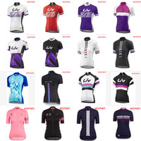 Wholesale ladies summer clothes sale - HOT Sale Women LIV RAPHA Team Cycling short sleeves Jersey Bike Racing Ropa Ciclismo summer ladies' bicycle sport cycling clothes F60902