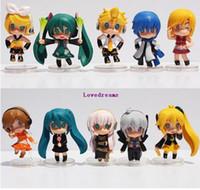vocaloid hatsune miku figür toptan satış-10 adet / takım 6 cm Nendoroid Anime Hatsune Miku PVC Action Figure Oyuncak Petit Vocaloid Figma Bebek Çocuk Hediyeler Için telefon aksesuarları