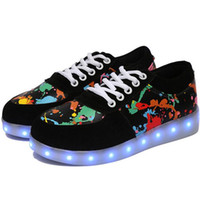 online Shopping Led Luminous Shoes - Women men Colorful glowing shoes lumineuse with usb light up charger led luminous shoes simulation sole led for adults