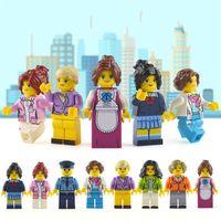 ingrosso mini blocco giocattoli serie-Assemblato Blocchi Cartoon Girl Uniform Series Collection Bambini Intelligence Multiful Pattern Mini Building Block Toy Gift 0 61ad W