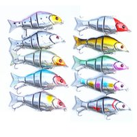 Wholesale segment fishing hard lures resale online - 12cm Ultra Far Throw Bait Five Segment Artificial Hard Fishing Lure Plastic Pesca Tackle Factory Direct ht UU