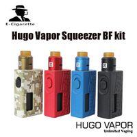 Wholesale mechanical mod electronic cigarette - 100% Original Hugo Vapor Squeezer Kit with N BF RDA 10ml with Squonk Mechanical Mod Electronic Cigarette kit DHL free shipping