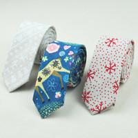 Wholesale christmas neckties for men for sale - Group buy Christmas Tie Handkerchief New Design Lining Tie Halloween Festival Neckties Hankderchief Snowflakes Elk Narrow For Men Kids